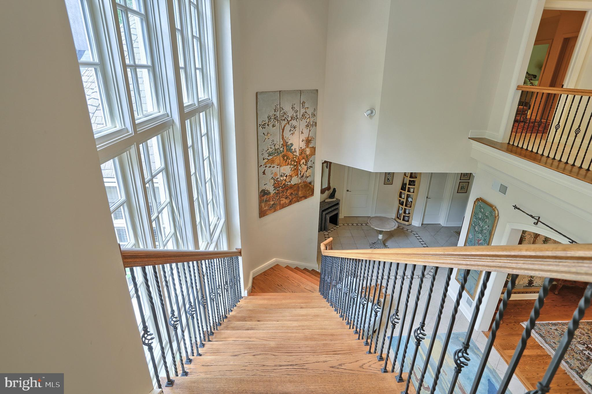View from top of 2nd floor stairs