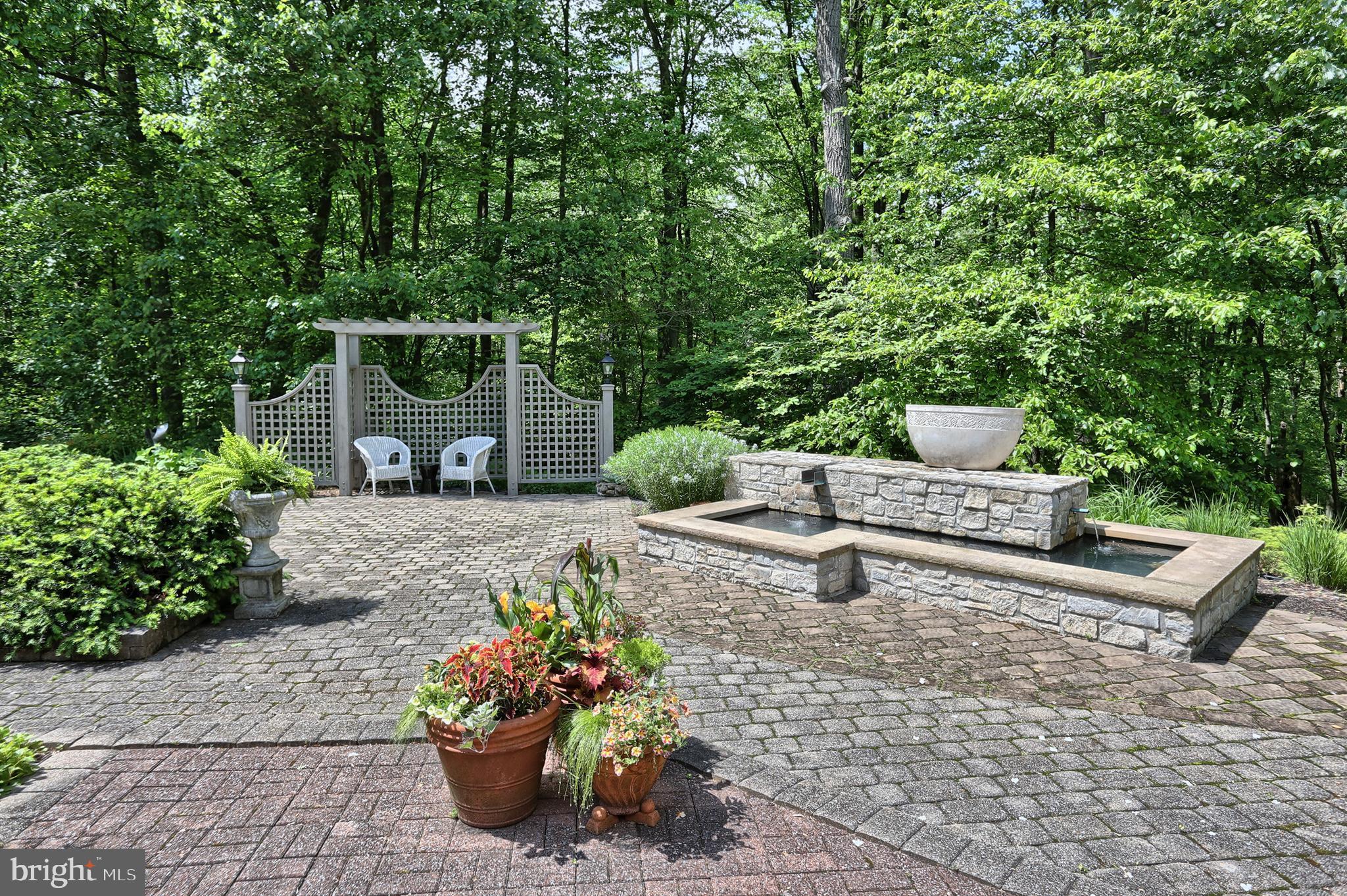 Fountain area of patio