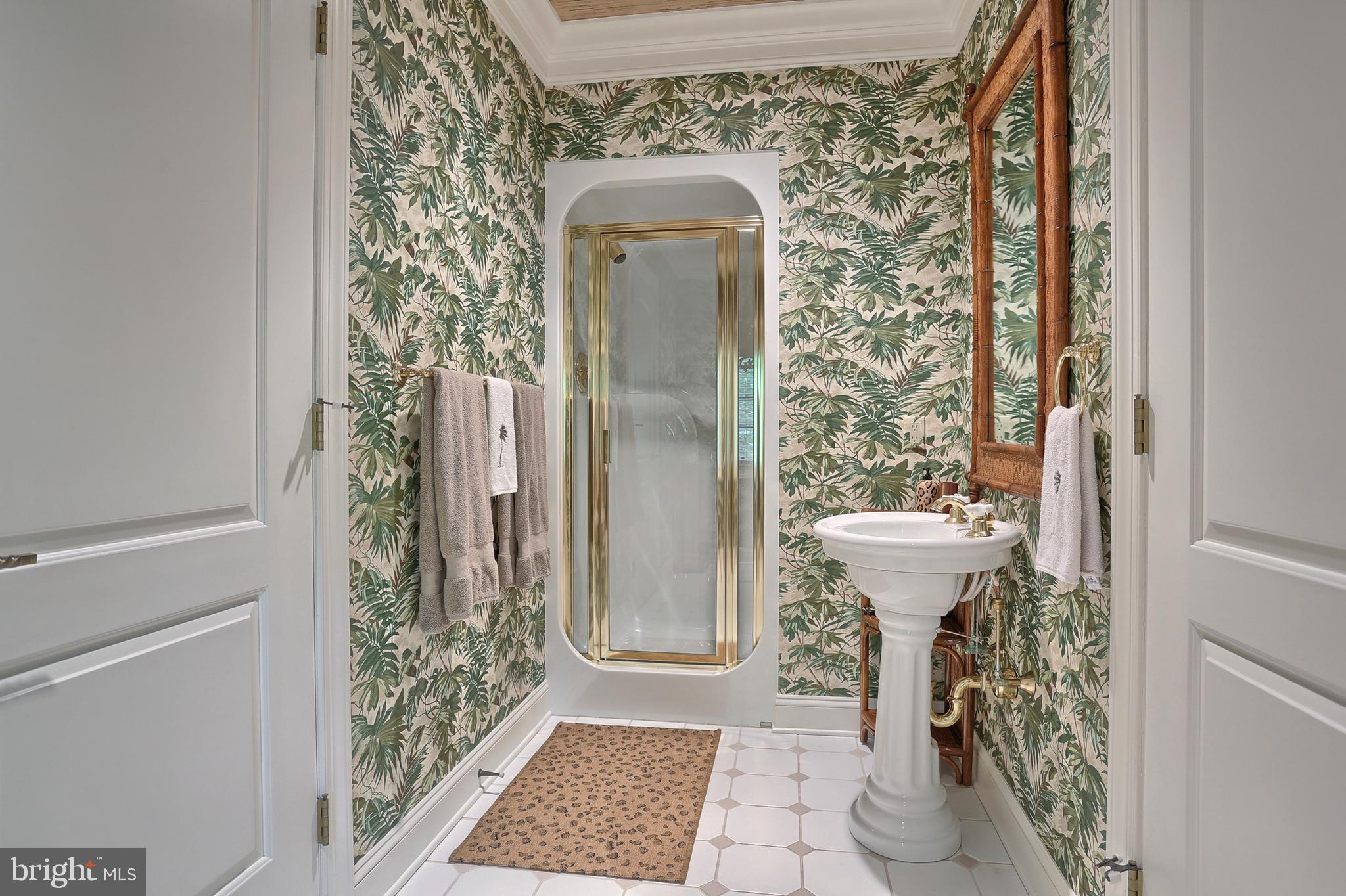 Full bath in lower level