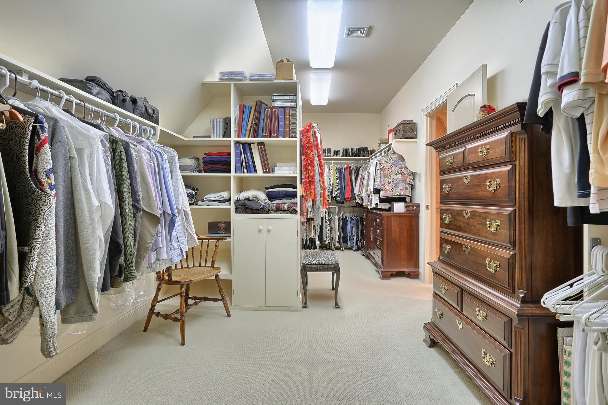 Master closet - also has adjoining cedar closet