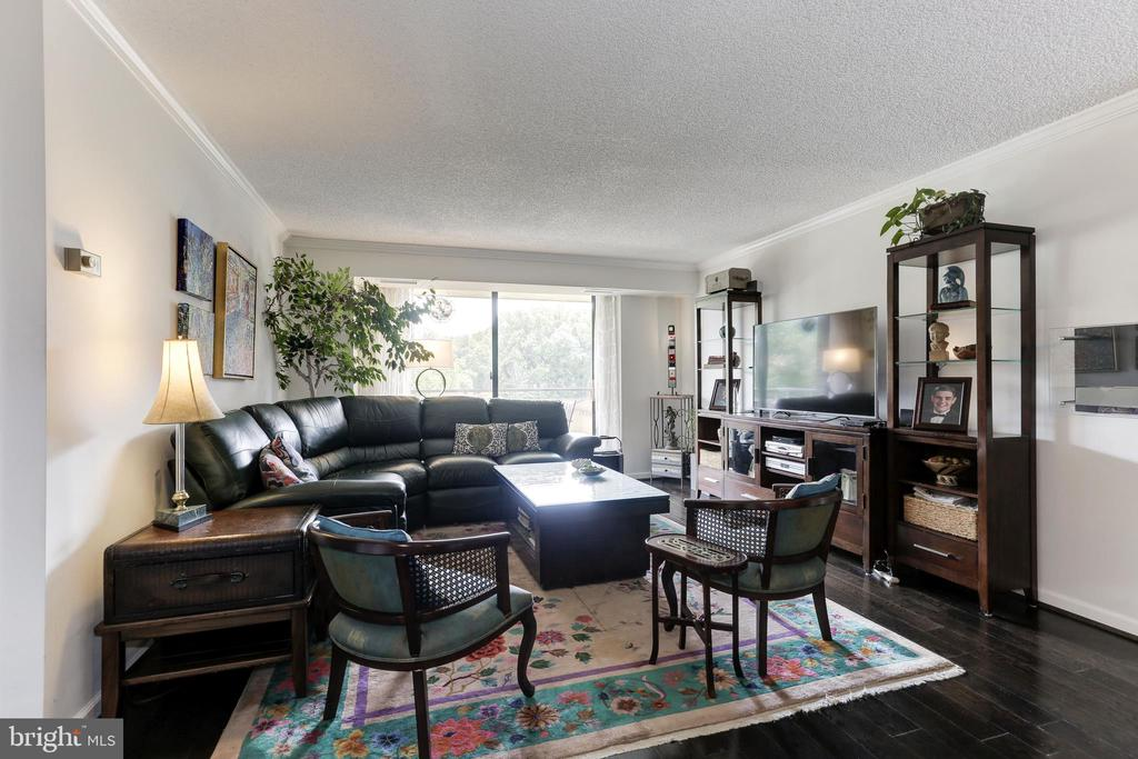 Living Room which opens to 27' Balcony - 1800 OLD MEADOW RD #1020, MCLEAN