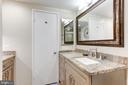 Master Bath with granite counter tops - 1800 OLD MEADOW RD #1020, MCLEAN