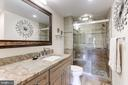 Totally remodeled Master bath with 2 vanity tops - 1800 OLD MEADOW RD #1020, MCLEAN