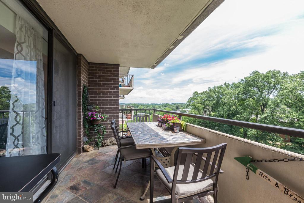 Balcony with wooded view - 1800 OLD MEADOW RD #1020, MCLEAN