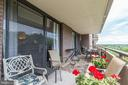 Balcony from Master Bedroom - 1800 OLD MEADOW RD #1020, MCLEAN