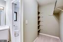 Master BR walk in closet + attached bathroom - 1955 WINTERPORT CLUSTER, RESTON