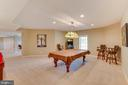 Game room on lower level - 17072 SILVER CHARM PL, LEESBURG