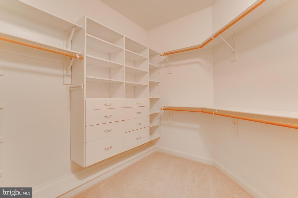 So many closets in the master bedroom - 17072 SILVER CHARM PL, LEESBURG