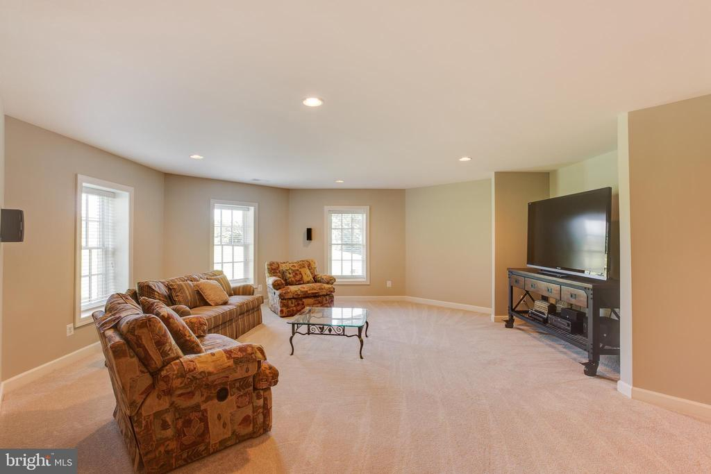 Lower level great room - 17072 SILVER CHARM PL, LEESBURG
