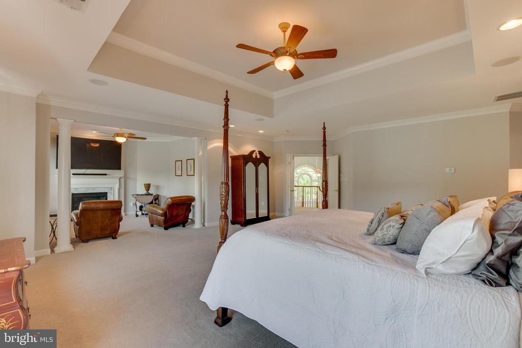 Master bedroom and sitting room - 17072 SILVER CHARM PL, LEESBURG
