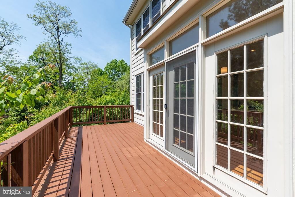 Tree views from deck  -  new wood  and new stain - 2200 JOURNET DR, DUNN LORING