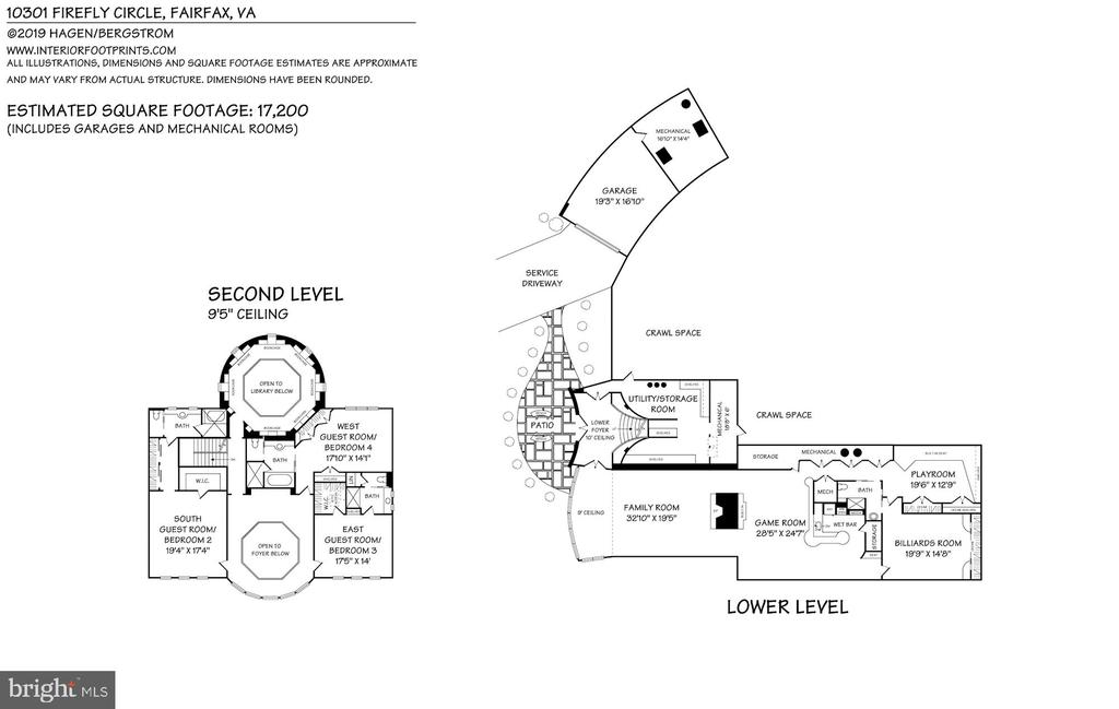 Second and walk-out lower level floor plan - 10301 FIREFLY CIR, FAIRFAX STATION
