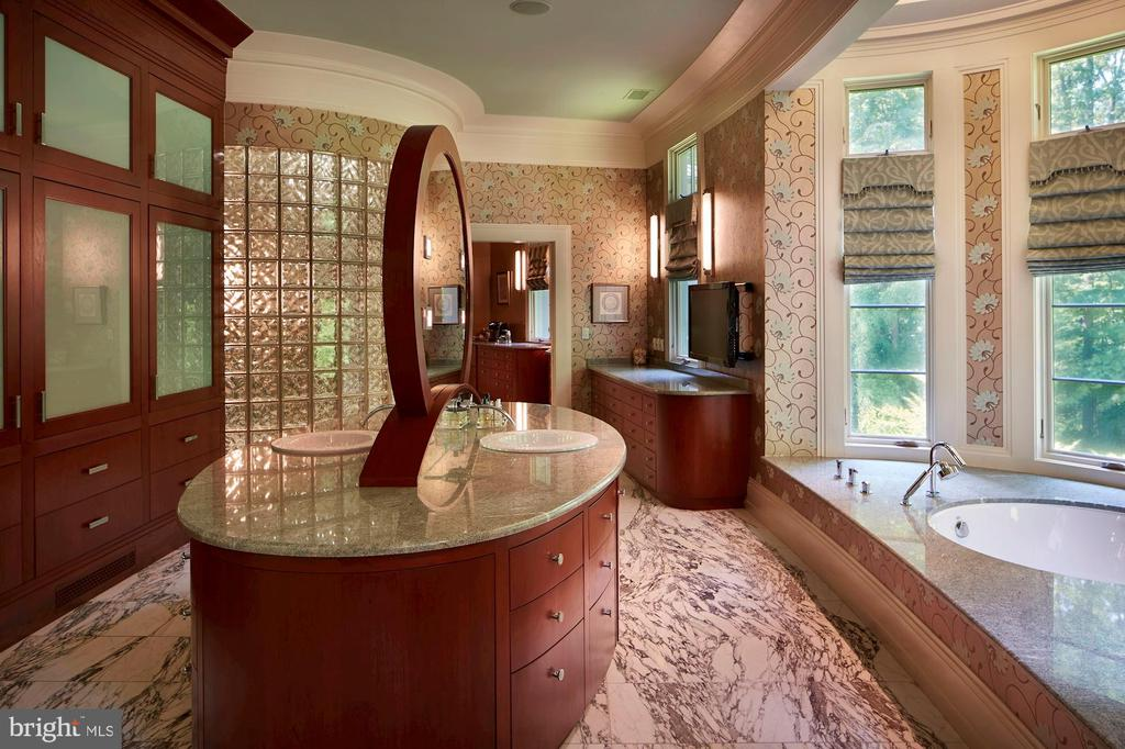 Soaking tub looks into the trees - 10301 FIREFLY CIR, FAIRFAX STATION