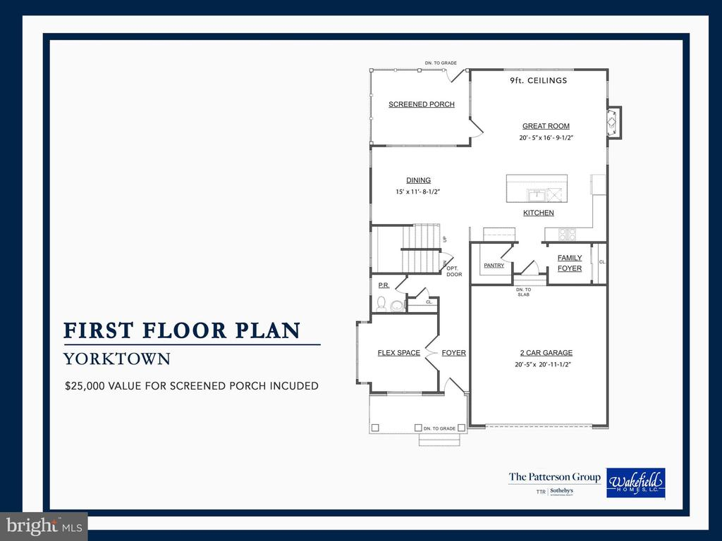 First Floor Plan - 8107 YORKTOWN DR, ALEXANDRIA