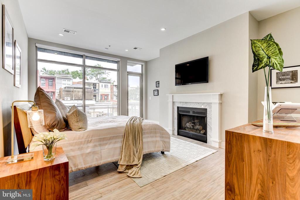 Huge Master bedroom w fireplace - 624 8TH ST NE #101, WASHINGTON