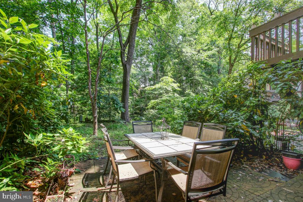 Patio is tucked in the woods &  close to the lake! - 11316 DOCKSIDE CIR, RESTON