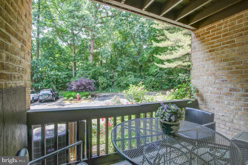 Balcony off the Kitchen-Breakfast on the deck! - 11316 DOCKSIDE CIR, RESTON