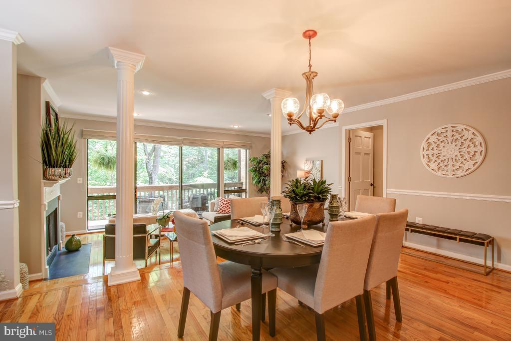 Main Level is open and bright! - 11316 DOCKSIDE CIR, RESTON