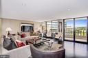 Living Room with Balcony Access - 700 NEW HAMPSHIRE AVE NW #1021, WASHINGTON