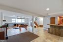 Large finished basement with walkout - 4307 ARGONNE DR, FAIRFAX