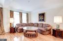 Living Room, Hardwood Floors & Crown Molding - 12086 KINSLEY PL, RESTON
