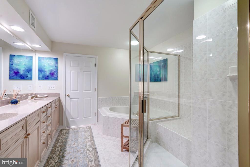 Beautiful Master  Bath - 12086 KINSLEY PL, RESTON