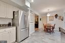 Kitchen with Stainless Appliances - 4109 ELIZABETH LN, FAIRFAX