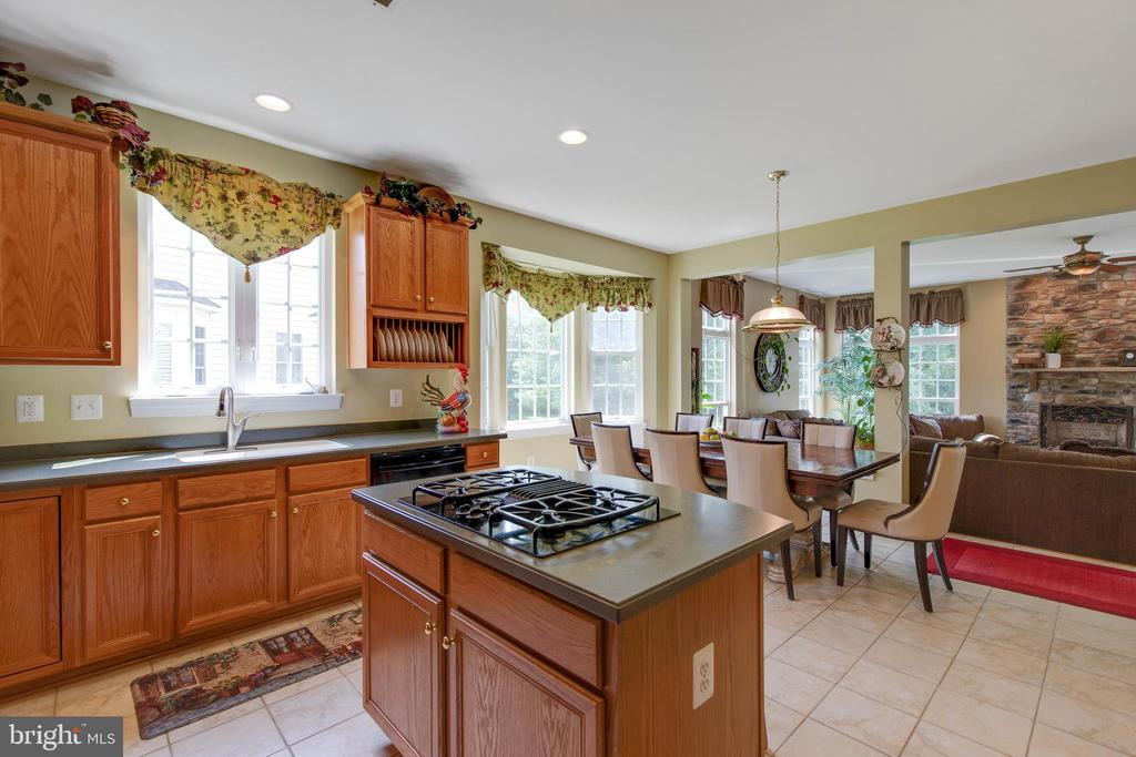 Kitchen open to Family Room - 42835 CONQUEST CIR, BRAMBLETON