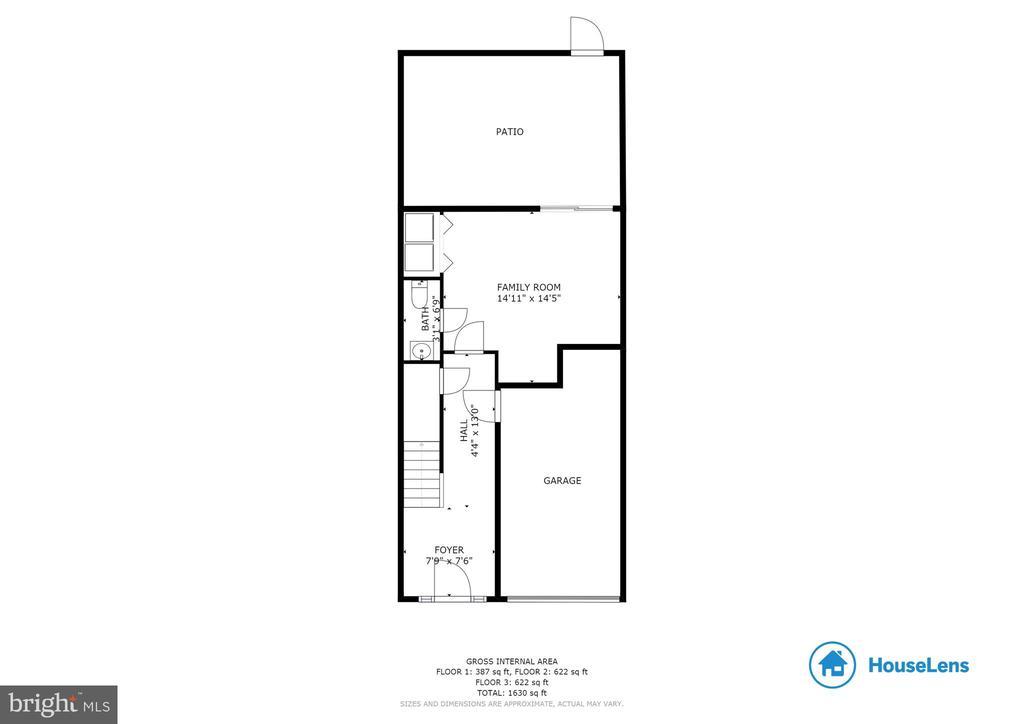 Basement Floorplan - 107 STINGRAY CT, STAFFORD