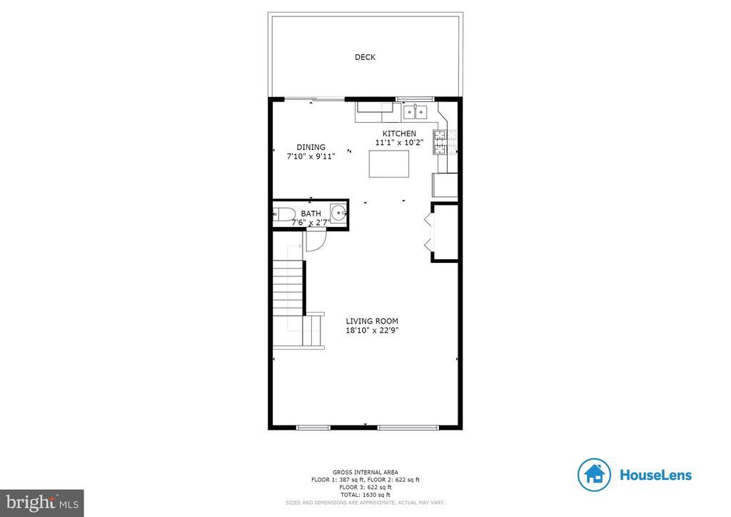 Main Level Floorplan - 107 STINGRAY CT, STAFFORD
