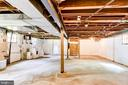 Expansive unfinished lower level with laundry - 4707 47TH ST NW, WASHINGTON