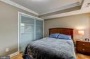 Second bedroom with custom closets - 3101 S MANCHESTER ST #516, FALLS CHURCH