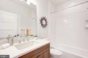 Second floor bathroom - 3338 7TH ST NE, WASHINGTON