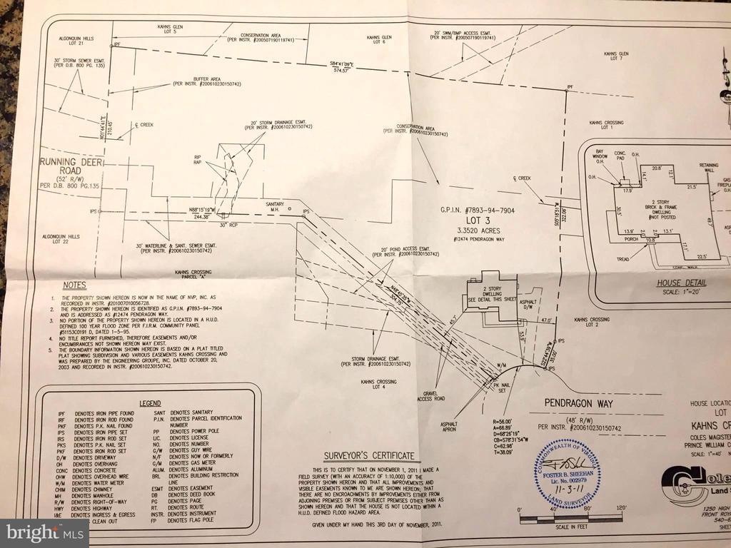 3.35 acres of complete privacy - 12474 PENDRAGON WAY, MANASSAS