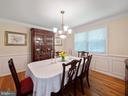 Dining room - 8104 LANGBROOK RD, SPRINGFIELD
