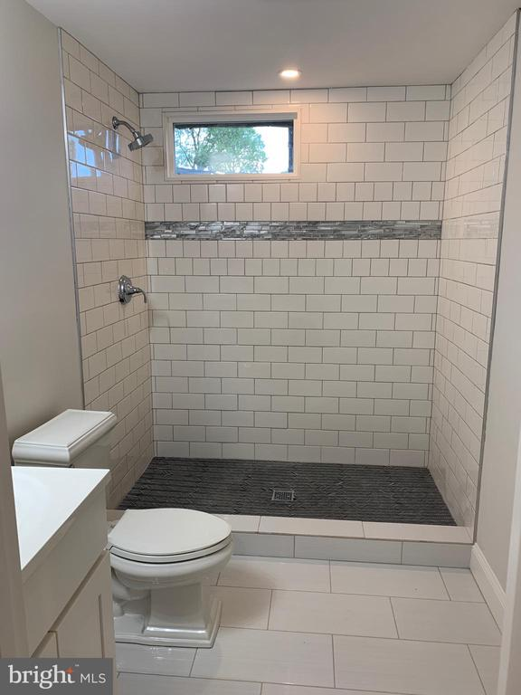 Basement bathroom. Full size shower. - 14182 WYNGATE DR, GAINESVILLE