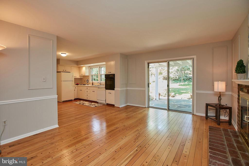 Sliding door opens to a Gorgeous - 2430 CARON LN, FALLS CHURCH