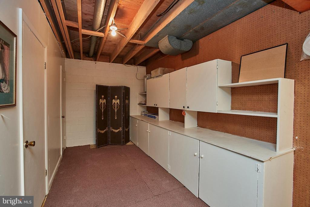 Lower level Storage Area w/ Laundry & Bath - 2430 CARON LN, FALLS CHURCH