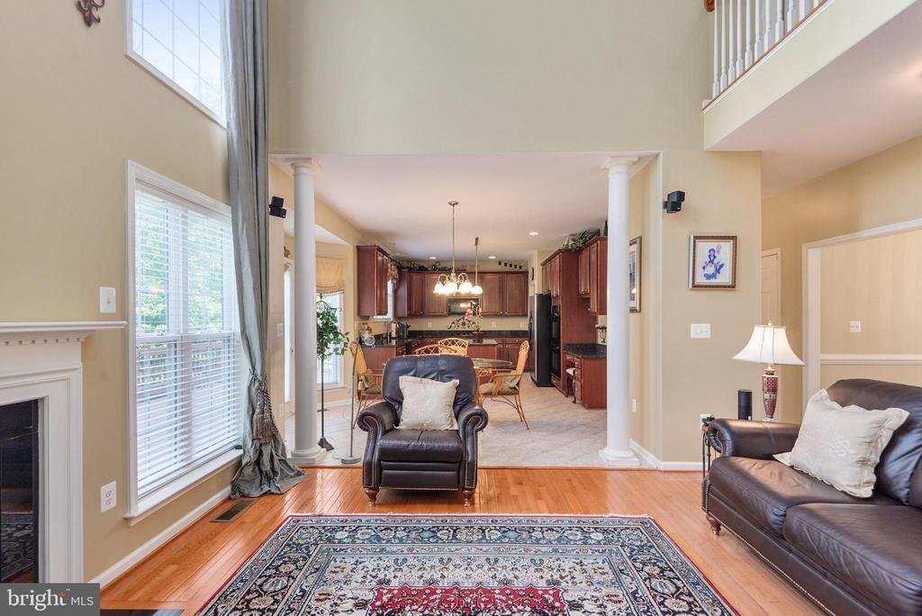 Family room view to kitchen. - 51 RIVER RIDGE LN, FREDERICKSBURG