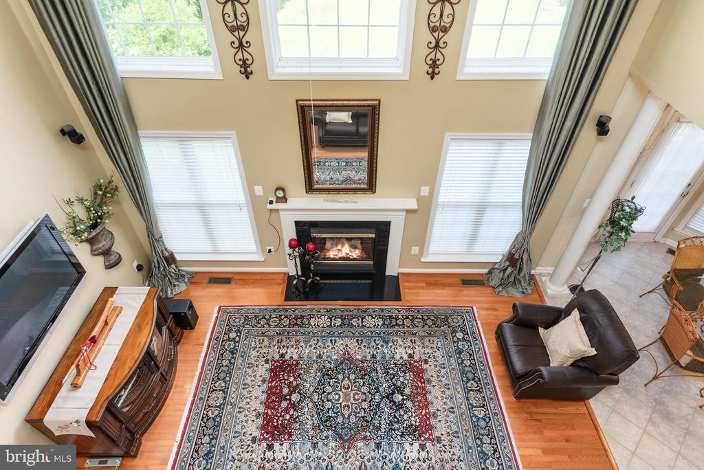 Family room view from upper level hall balcony. - 51 RIVER RIDGE LN, FREDERICKSBURG
