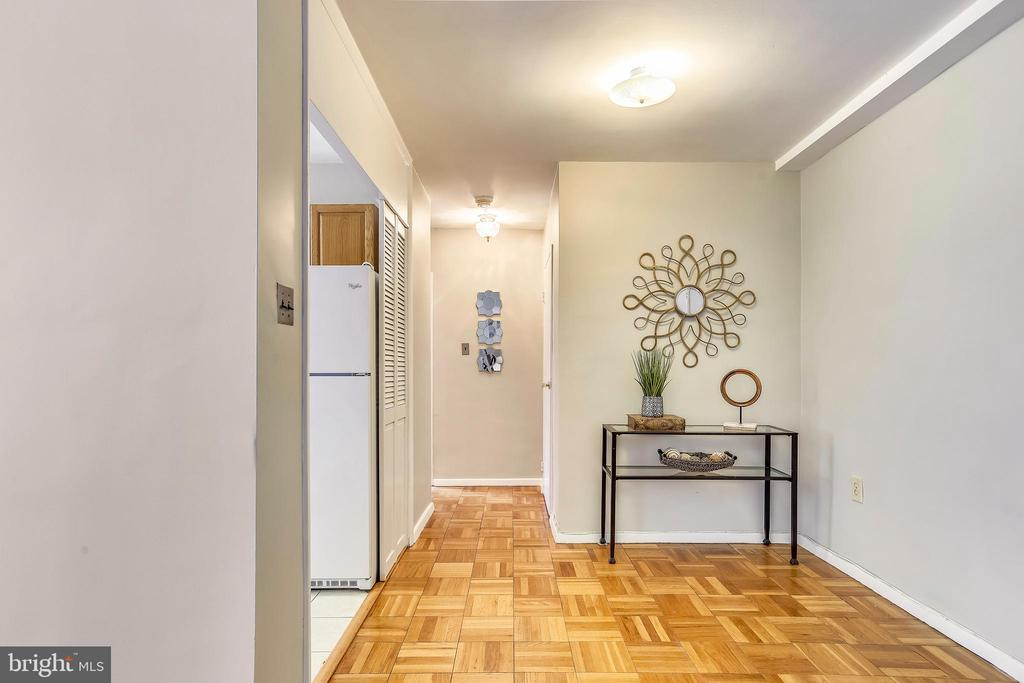 Additional foyer space allows for extra storage - 4100 W ST NW #515, WASHINGTON