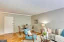 Hardwood parquet floors throughout - 4100 W ST NW #515, WASHINGTON