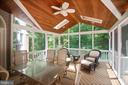 Beautiful screen-in porch off the kitchen - 12009 BENNETT FARMS CT, OAK HILL