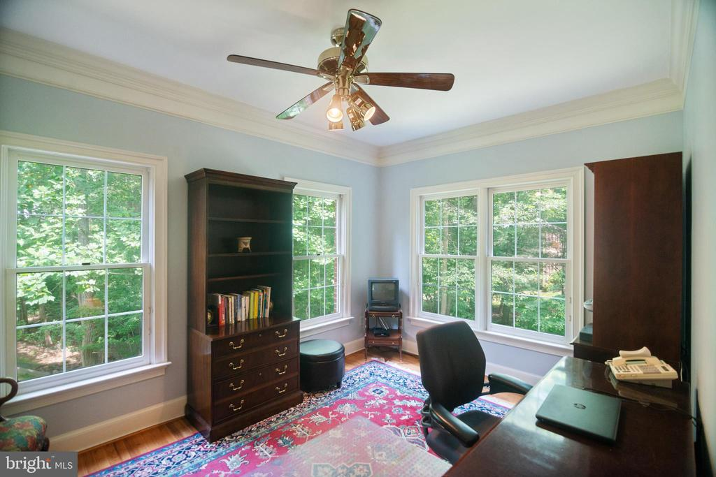 Den or second office on the main level - 12009 BENNETT FARMS CT, OAK HILL