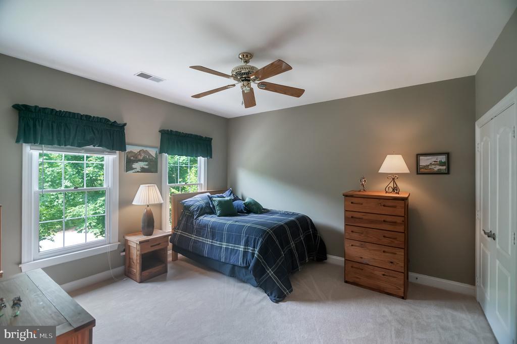 Light filled bedroom with ceiling fan - 12009 BENNETT FARMS CT, OAK HILL