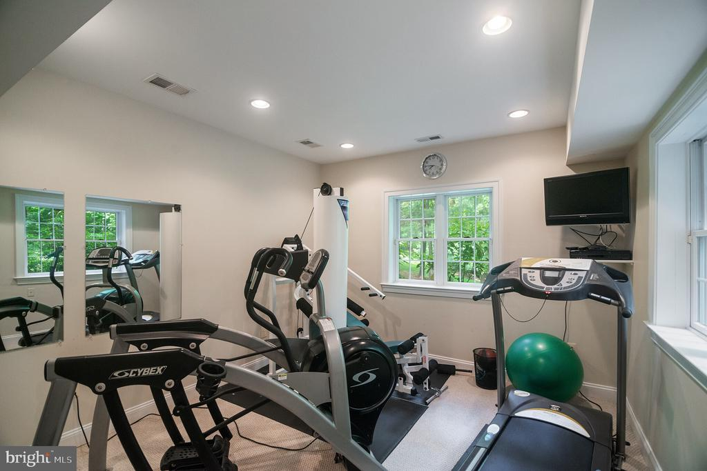 Workout room with recessed lighting - 12009 BENNETT FARMS CT, OAK HILL