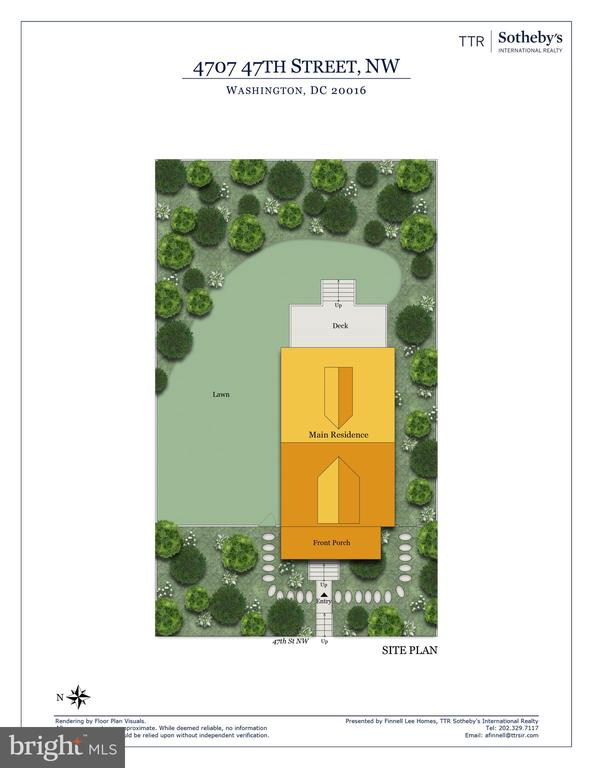 Site plan - 4707 47TH ST NW, WASHINGTON