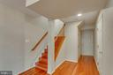 Hardwood stairs leading to fantastic basement - 43657 SCARLET SQ, CHANTILLY