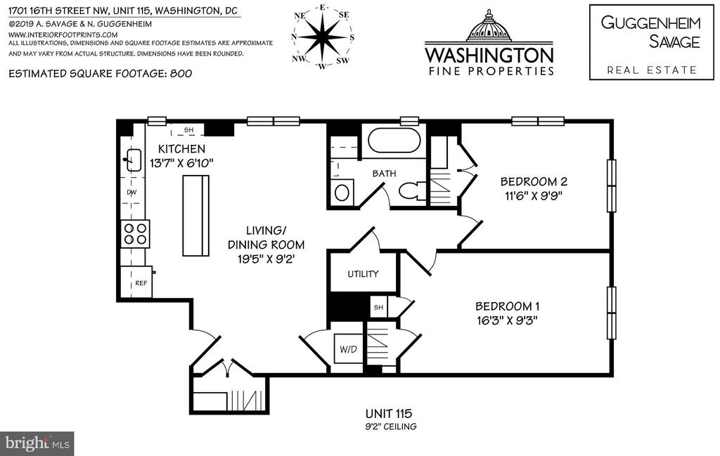 Floor Plan - 1701 16TH ST NW #115, WASHINGTON