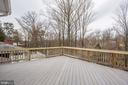 Upper Level Deck Near Owner's Suite - 3502 PINETREE TER, FALLS CHURCH